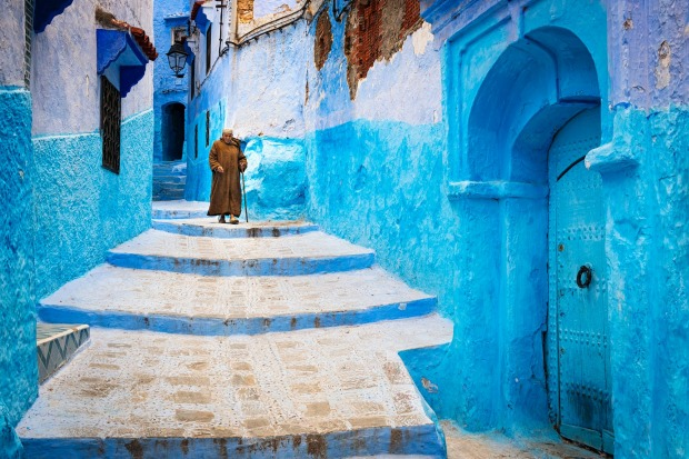 The streets of Chefchaouen.