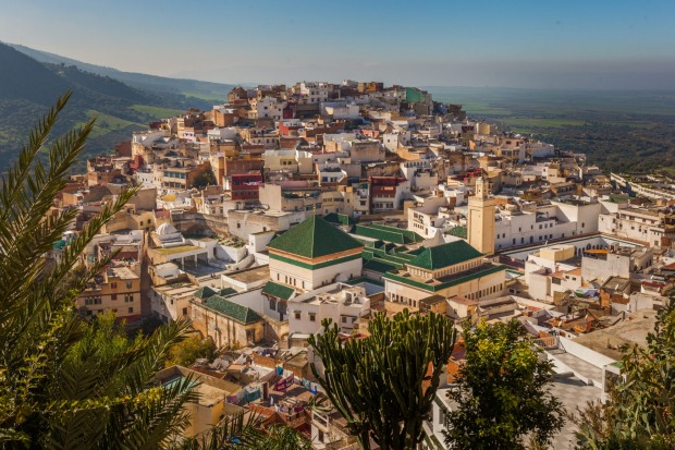 View of the holy city of Moulay Idris.