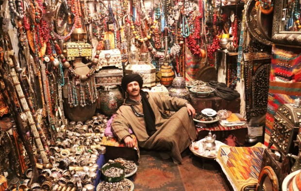 Jamal the jewellery seller in Marrakech.