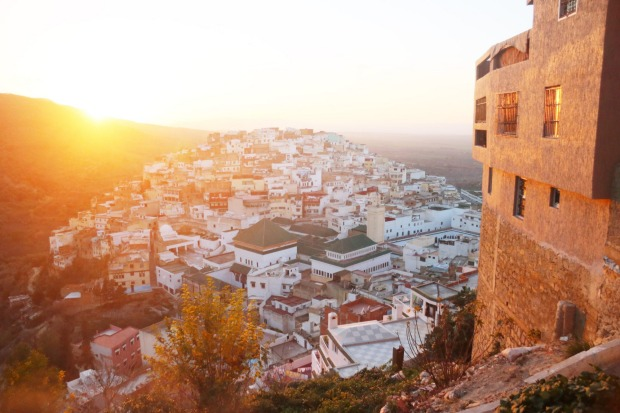 Sunset in the pilgrimage town of Moulay Idriss.