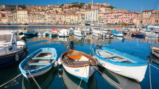 Portoferraio is a creation of the Medicis, who built Renaissance harbour fortifications that look designed to repel giants.
