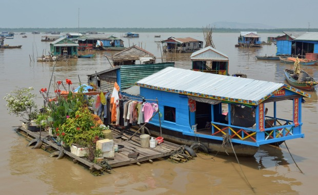 Floating villages of Tonle Sap, Cambodia: Yes, some of these floating cities on the lake near Siem Reap in Cambodia are ...