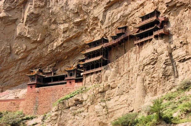 Xuankong Si, China: You really have to trust your engineers when your house is built into the side of a sheer cliff some ...