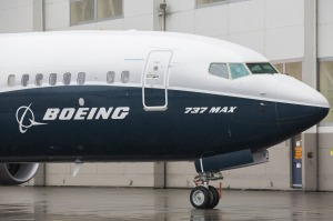 The Boeing 737 Max 9 jetliner stands at the company's manufacturing facility in Renton, Washington.