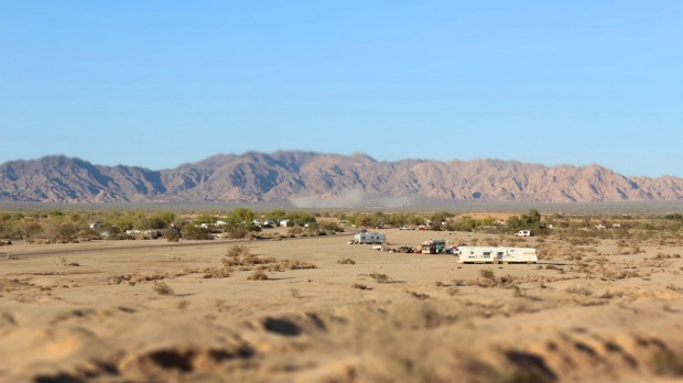 Slab City, US: This caravan-dwelling settlement of retirees, hippies, drifters and oddballs in the Californian desert is ...