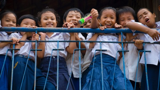 School children in Phnom Penh, Cambodia.