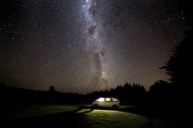 The stars aligned above our rental van in the Hanmer Forest of The South Island New Zealand. It seemed like the right ...