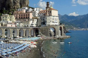 The coastal road running through Atrani on the Amalfi Coast in Italy. Photo: Brian Johnston str15-trav10Euro