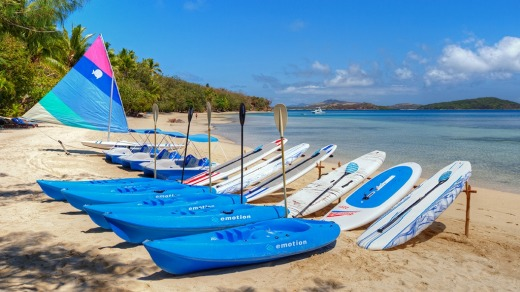 Water sports include windsurfing, kayaking and stand-up paddle boading.