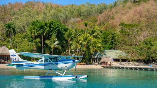 The Turtle Island-owned Turtle Airways seaplane.