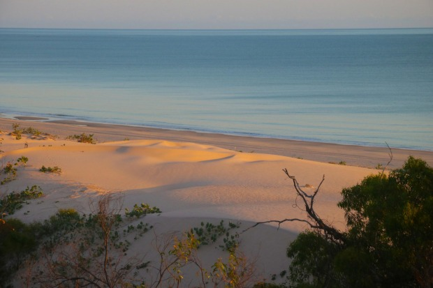 Sunrise sand dunes from a Berkeley River Lodge villa.