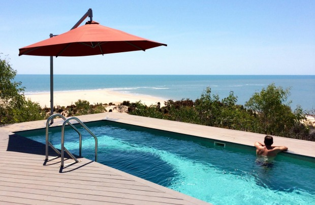 Berkeley River Lodge's 20m saltwater pool with a view.