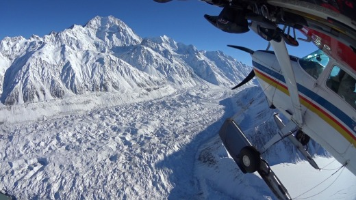 The 15-minute flight to the upper neve is breathtaking, but landing on the snow in a plane at 2200 metres is the highlight.
