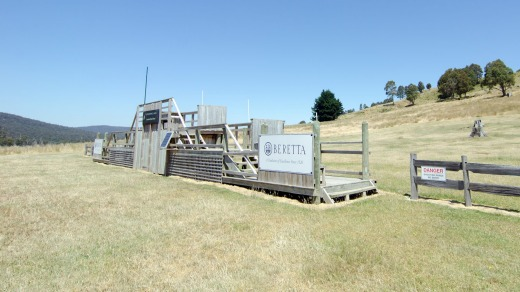 A real blast: The clay target shooting range at Currawong Lakes.