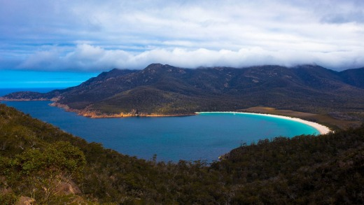 Wineglass Bay from the Wineglass Bay Walking Track.