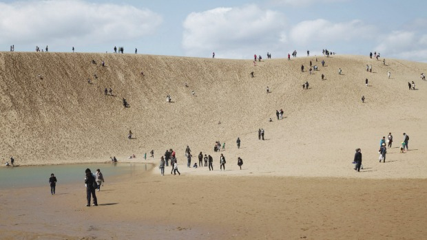 The Tottori Sand Dunes national park.