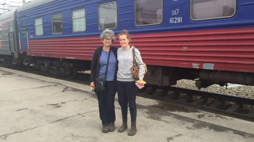 Kate Minkoff and Julia Foskey (mother and daughter), from Melbourne, at one of their stopovers during the trip.