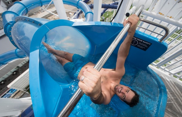 Pacific Dawn's new waterslide.