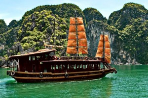 Ha Long Bay, 175 kilometres east of Hanoi, has one of the world's most remarkable coastal landscapes.