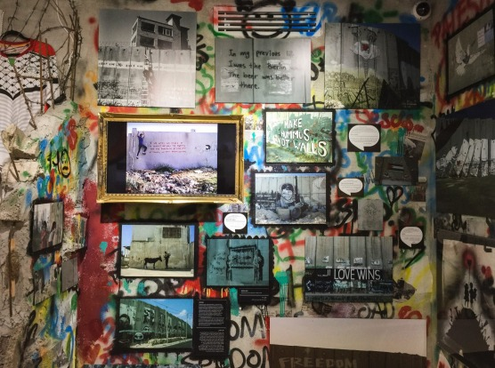 The hotel, opened by the artist Banksy across from the wall that separates Palestinians and Israelis, displays whimsy ...