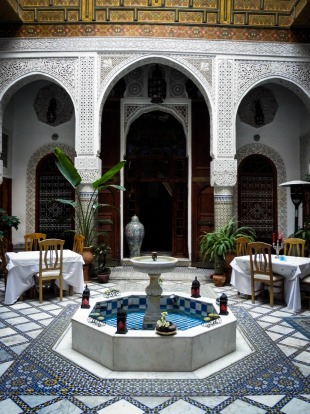 Inner courtyard in Fez, Morocco.