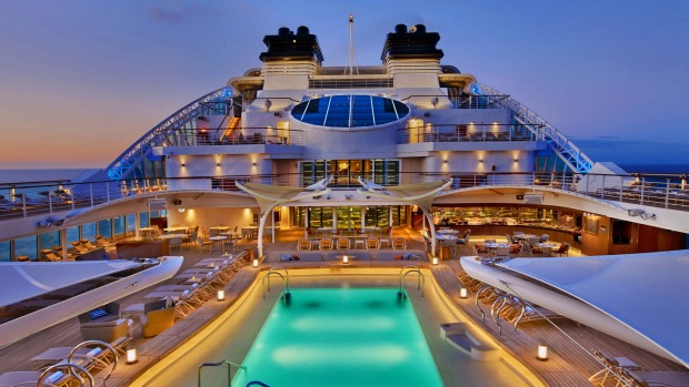 Seabourn Encore Pool Deck. for Life & Leisure. Please credit Eric Laignel . SUNAPR23COVER - designs on cruise ships - ...
