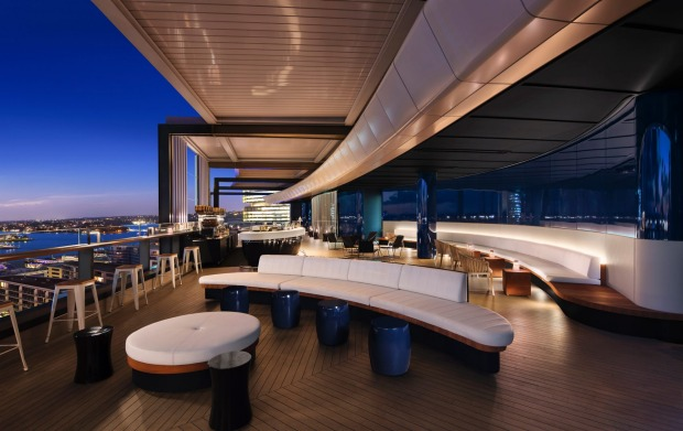 Rooftop highlight: The Zephyr bar at the Hyatt Regency Sydney.