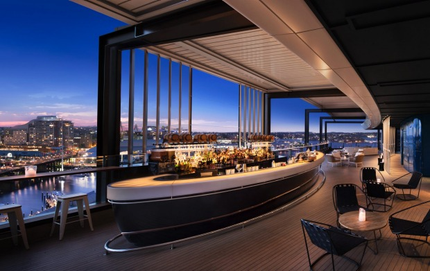 The Zephyr bar at the Hyatt Regency Sydney.