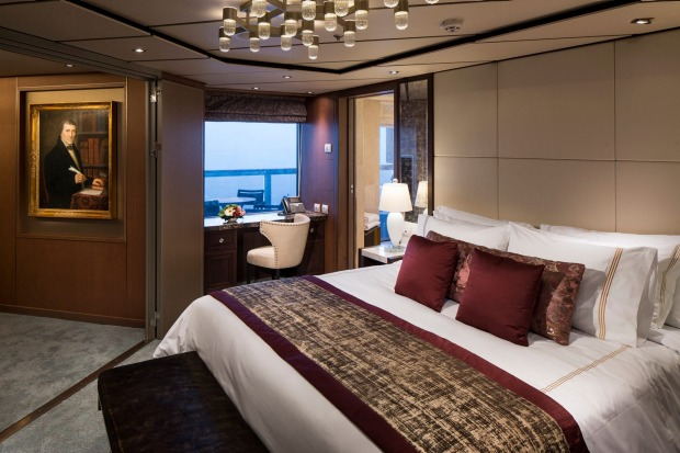 A room on Holland-America MS Koningsdam.