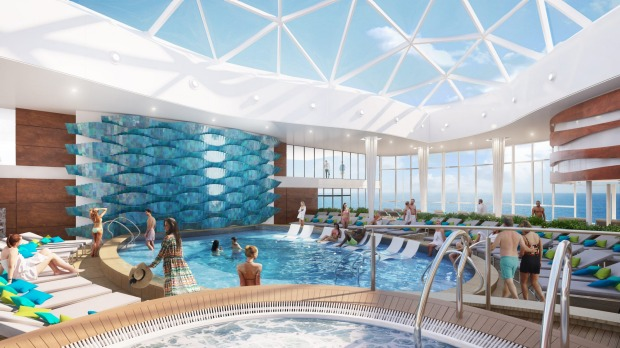 Artist's impression of Celebrity Edge, Royal Caribbean.