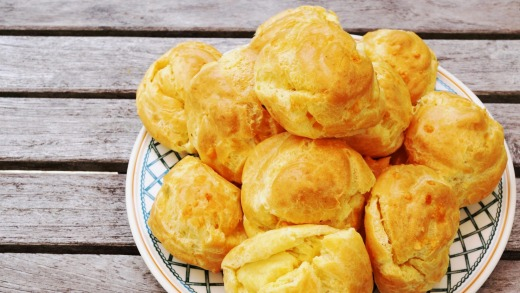 French gougeres.