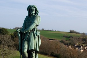 Statue of Vercingetorix at MuseoParc Alesia.