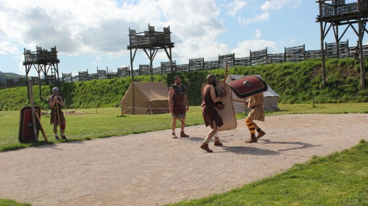 Re-enacting a battle scene at MuseoParc Alesia.