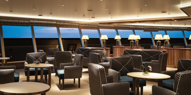 Observation Lounge on Silver Muse.