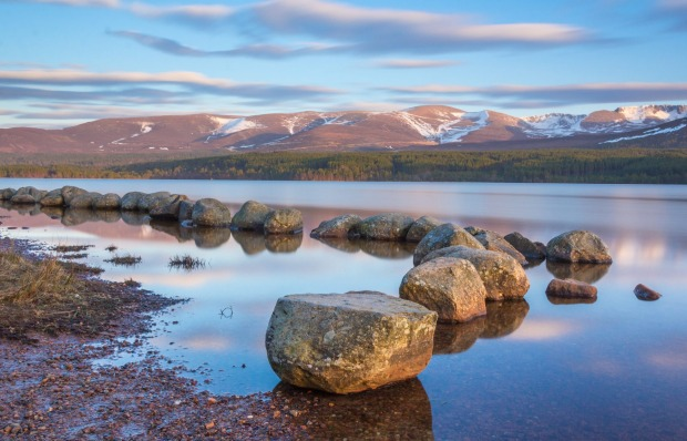 Loch Morlich in the Cairngorm National Park, Scotland