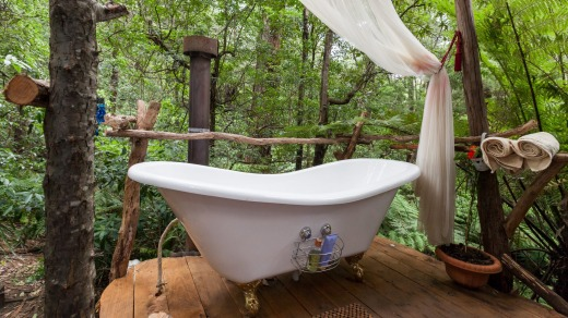 Tree Bath House on Airbnb.
