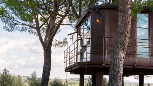 Treehouse accommodation in Florence, Tuscany, Italy.