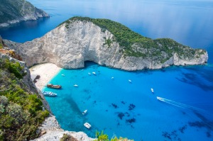 Navagio Bay is one of the most popular spots to visit on the Greek island of Zakynthos.