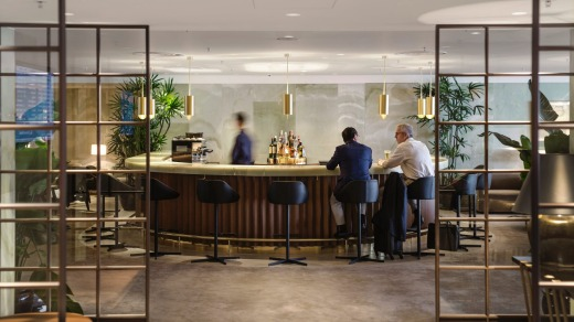 Cathay Pacific's Hong Kong lounge