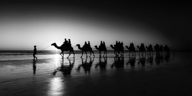 Cable Beach Camel Train - A great way to spend the end of a long day in Broome is to sit on the beach and wait for that ...