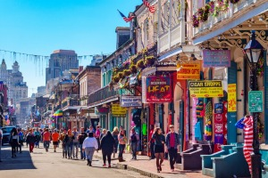 The colourful Bourbon Street is a tourist highlight. But which city is it in?