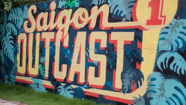 Saigon Outcast, a popular venue for live music, rock climbing and hanging out in the burgeoning expat suburb of District ...