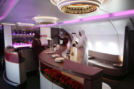 Qatar's bar takes the prize, despite its roots in a largely dry country.