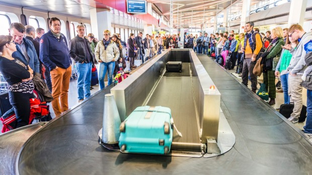 The baggage carousel, often a source of frustration for travellers.