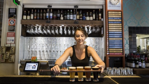 The Grain Store Craft Beer Cafe has 21 independently brewed and exclusively Australian beers on tap.