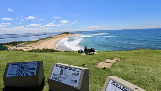 Enjoy sweeping sea views from Fort Scratchley.