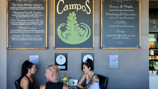 Table 1 Espresso is one of the city's top cafes.