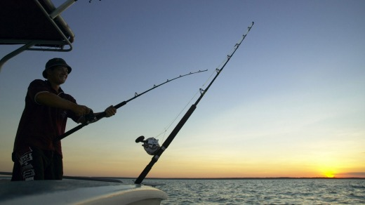 Big fish such as barra,  trevally, snapper and mackerel can be hooked in Darwin Harbour.