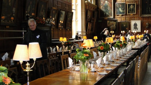 Among the Harry Potter locations is Christ Church's Great Tudor Hall, Oxford.