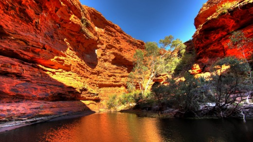 A spectacular gorge in the red  centre of Australia.